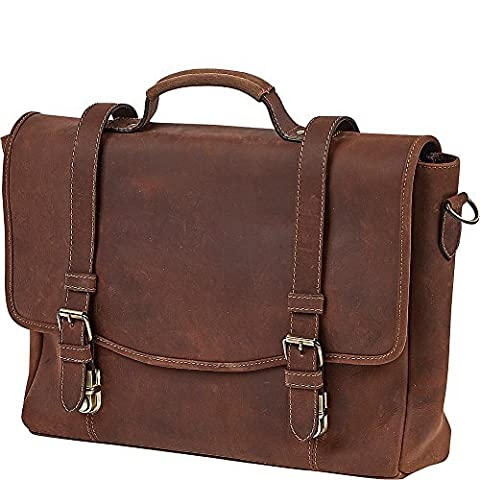 Claire Chase Rustic Laptop Messenger Bag, Rustic Brown, One Size - Claire Chase Leather Messenger