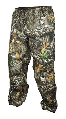 COMPASS 360 Men's AdvantageTek Camo Waterproof Rain Pants (Realtree Edge, Medium)