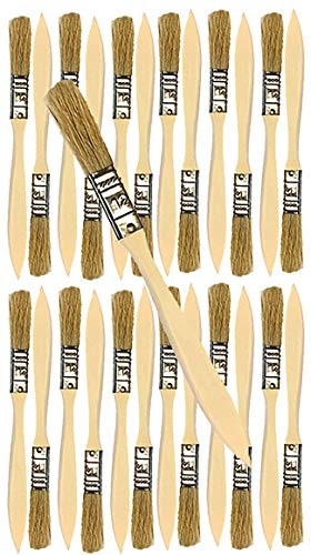 24 Pack of Single X Thick Paint and Chip Paint Brushes for Paint, Stains, Varnishes, Glues, Acrylics and Gesso. (1/2)