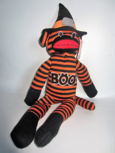"""Sock Monkey Totally Ghoul 18"""" Plush Toy"""