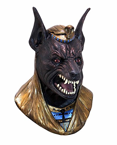 Anubis Adult Costumes (Evil Anubis Adult Latex Mask Greek God Egyptian The Jackal Dlx Costume Accessory)