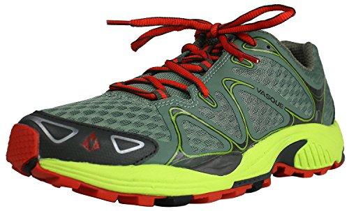 Vasque Men's Pendulum Trail Running Shoe,Sea Spray/Lime/Green,9.5 M US