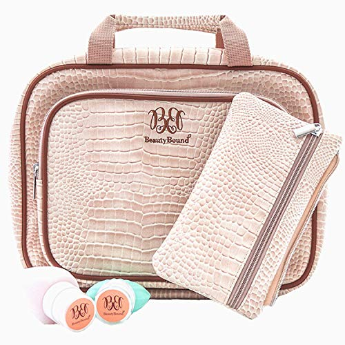 Large Hanging Toiletry Bag for Women - Travel Accessories, Bathroom and Makeup Organiser - Storage for Hair Dryer, Cosmetic and Toiletry Essentials - Portable Beauty Bag Cruelty Free Leather Case