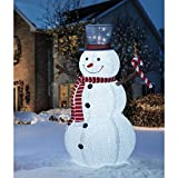 """72"""" Pop-Up Snowman Pre-lit with 250 White LED lights & Accessories"""