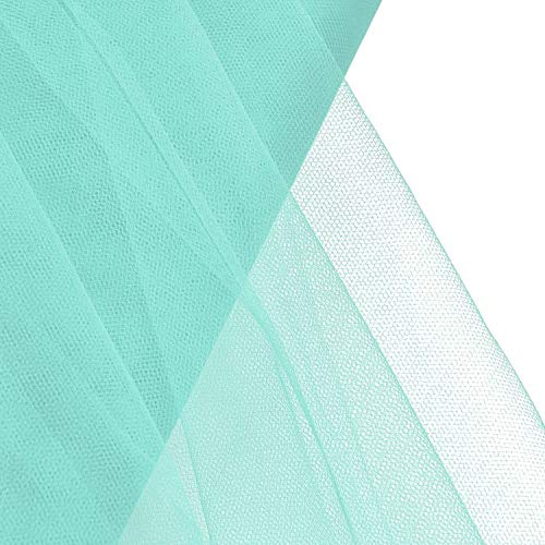 """OOKI 54"""" by 40 Yards (120 ft) Fabric Tulle Bolt for Wedding and Decoration (Aqua)"""
