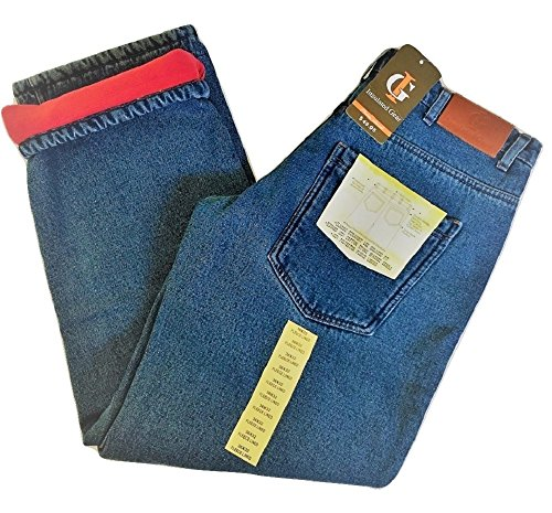 Fleece Relaxed Fit Jeans (Fleece lined Insulated Jeans -36/30 (Blue))