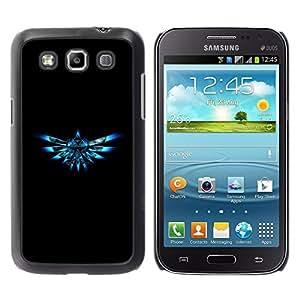 COVERO Samsung Galaxy Win I8550 I8552 Grand Quattro / Blue Triforce / Prima Delgada SLIM Casa Carcasa Funda Case Bandera Cover Armor Shell PC / Aliminium