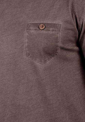 A Bean Girocollo Uomo Maniche 100 Teil Corte Cotone Coffee Maglietta T 5973 Da shirt solid Con In Zxt8wvI8q