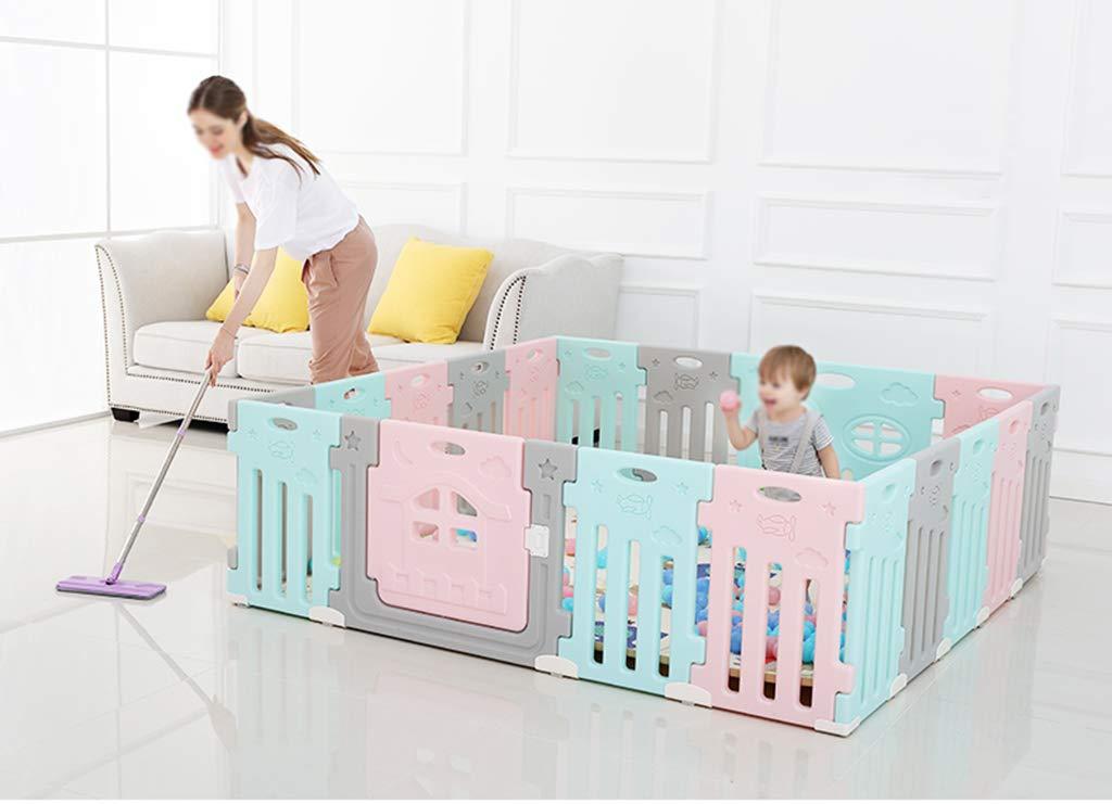 Zhao Baby-Schutzzaun, Kind-Spiel-Zaun-Haushalts-Sicherheitszaun-Baby-Innenkriechen, Das Lernt, Puzzlespiel-Zaun 35-75CM zu zu zu Gehen B07H32ZH3M Firstzelte Stilvoll und charmant cb7b92