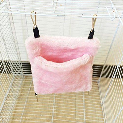 Celendi Small Animal Warm Bed Rat Hammock Pet Hamster Cage House Squirrel Hanging Nest