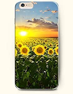 Phone Case for iPhone 6 Plus 5.5 Inches with the Design of The bright sun is shining the ocean of sunflowers... WANGJING JINDA