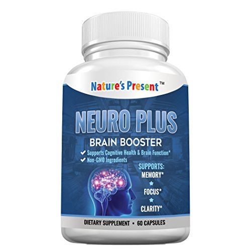 Nature's Present Neuro Plus Brain Support Supplement- Advanced Nootropics Formula for Memory, Focus & Mental Clarity, GMP Certificated, Non-GMO-60 Capsules (1) For Sale