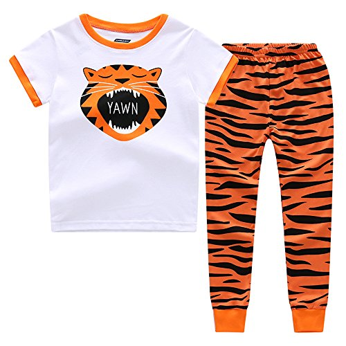 Cnbaby  The Rant Tiger  Toddler Boys Short Sleeve Pajama Set  3 Toddler