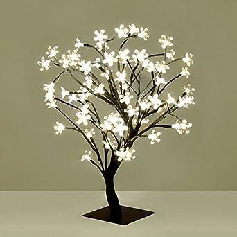 Bonsai Led Beleuchtung   Dekorativer Kirschbluten Baum Im Bonsai Stil Tischoampe Mit 72 Led