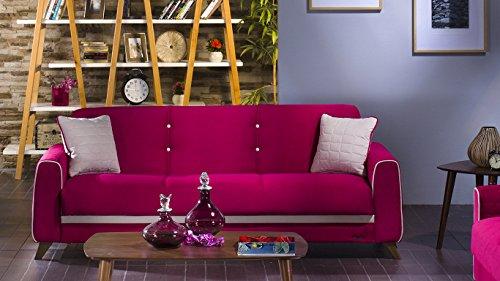 Fabio Plato Fuschia Convertible Sofa Bed by Sunset