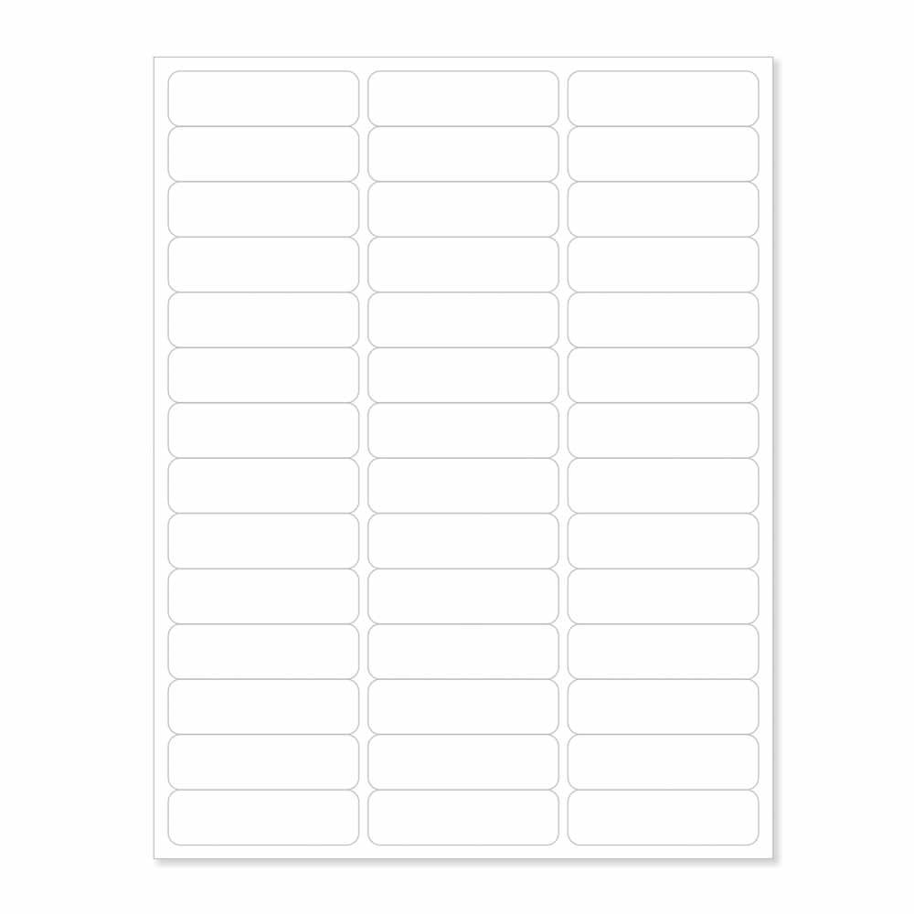 PDC Healthcare LS1230 Chart Labels Laser, Portrait, 2 5/8'' x 3/4'', 42 per Sheet, White (Pack of 100)