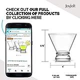 JoyJolt 4-Piece Afina Cocktail Glasses Set, Martini