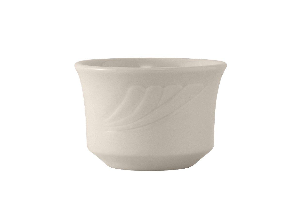Tuxton YEB-0752 Vitrified China Monterey Bouillon, 7 oz, 3-5/8'', Eggshell (Pack of 36),