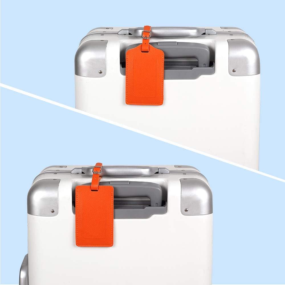 Gep/äckanh/änger ID Etikett mit Adressschild Namenschild f/ür Koffer Zubeh/ör,Blau 2 St/ück Kofferanh/änger aus Kunstleder