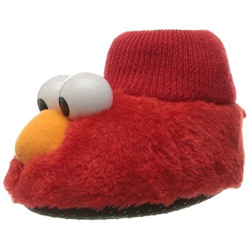 Sesame Street Boys Girls Sock Top Slippers (9-10 M US Toddler, Elmo Puppet) ()