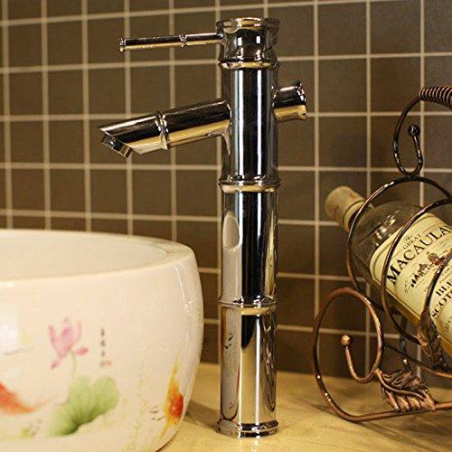 Hlluya Wasserhahn für Waschbecken Küche Tabelle Waschbecken Wasserhahn 4 Bambus Bambus Bambus fließendem heißen und kalten Wasserhahn 3e638a