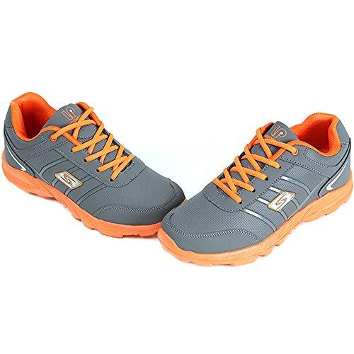 Nouveau Sport Mode Sneakers Femmes Running Formateur Lacent Casual Chaussures De Sport Gris Orange