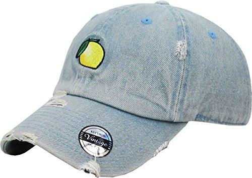 kbsv-045-ldm-lemon-vintage-dad-hat-baseball-cap-polo-style-adjustable