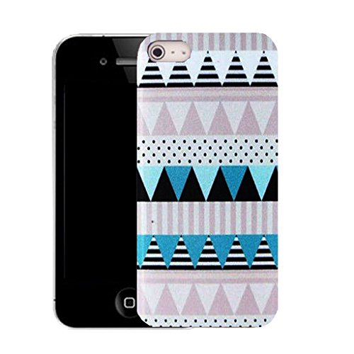 Mobile Case Mate IPhone 4 clip on Silicone Coque couverture case cover Pare-chocs + STYLET - modernized pattern (SILICON)