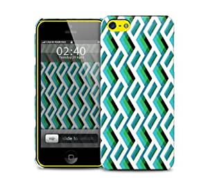 green zigzag iPhone 5c protective phone case