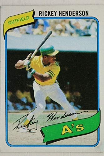 Autographs Henderson (Rickey Henderson Oakland As 1980 Topps # 482 Baseball Rookie Card)