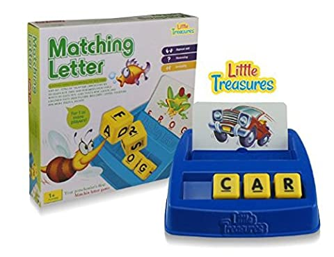 Little Treasures Matching Letter Game, Teaches Word Recognition, Spelling & Increases Memory, 3 Years & (Educational Toys Kindergarten)