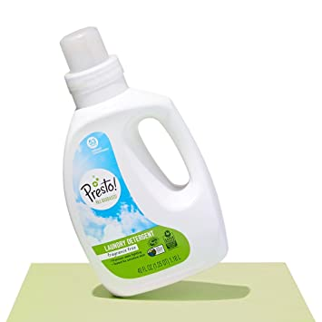 Amazon Brand - Presto! 96% Biobased Concentrated Liquid Laundry Detergent,  Fragrance Free, 106 Loads