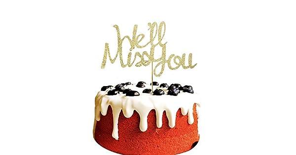 We Miss You - Decoración para tarta de despedida, cambio de ...
