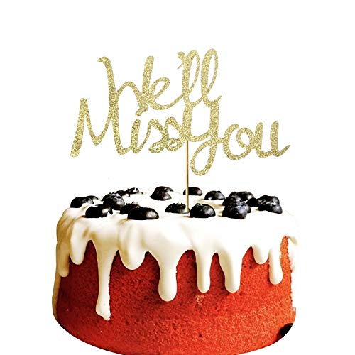We'll Miss You Cake Topper for farewell,