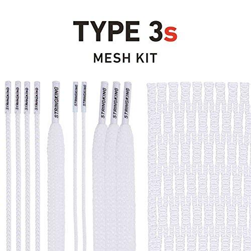 String King Type 3s Semi-Soft Lacrosse Mesh Handy Kit with Mesh & Strings (White) (Best Soft Mesh Lacrosse)