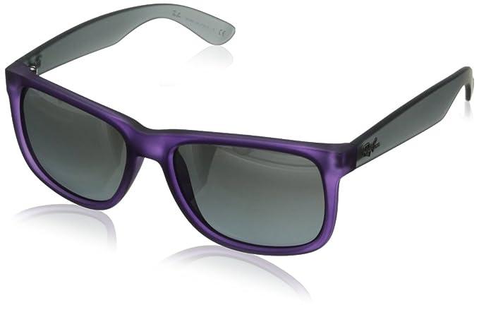 Ray-Ban Justin RB4165, Gafas de sol Unisex, Morado (Rubber Dark Violet), 54 mm