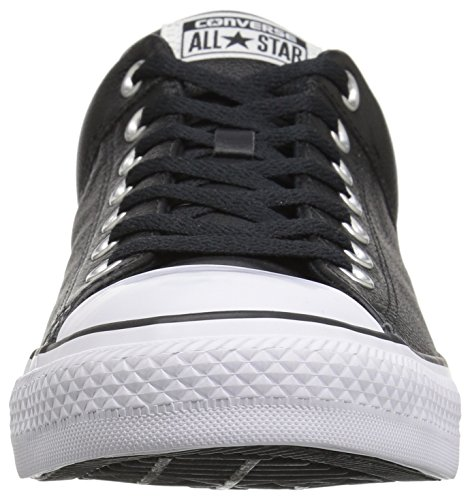 Converse Men's Street Leather Low Top Shoe, Black/Black/White, 10 M US
