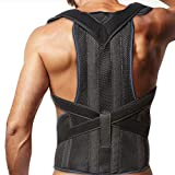 Posture Corrector Clavicle and Lower Back Support for Men and Women - Deluxe, Comfortable Back and Shoulder Brace - Medical Device to Improve Bad Posture, Spine Posture, Hunchback, Aches and Pain