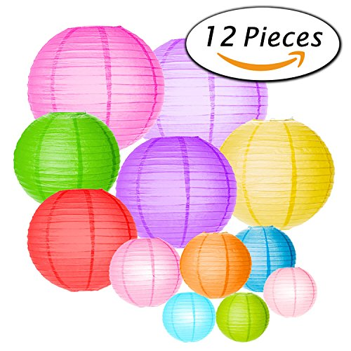 Paxcoo Paper Lanterns Assorted Colors product image