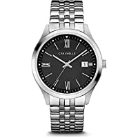 Caravelle 43B158 Mens Silver Finish Watch