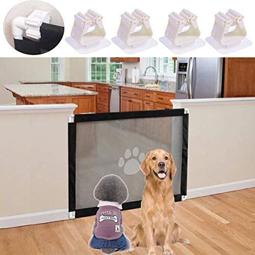 Dog Net, Magic Gate for Dog, Stair Gate for Dogs, Foldable Pet Stair Gate Safe Guard Pet Isolation Net Indoor and…