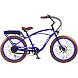 """Pedego Interceptor 26"""" Classic Neon Blue with Brown Balloon Package 48V 10Ah"""