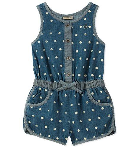 Calvin Klein Jeans Baby Girls Romper,