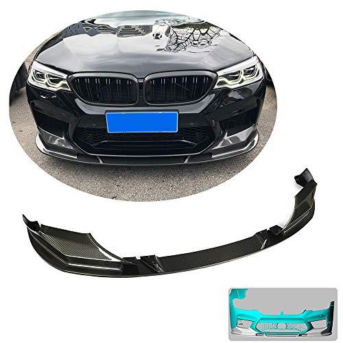 MCARCAR KIT Front Bumper Lip fits BMW 5 Series F90 M5 Sedan 2018-2019 Customized Real Carbon Fiber CF Chin Spoiler Splitter Protector