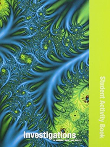 INVESTIGATIONS 2008 STUDENT ACTIVITY BOOK SINGLE VOLUME EDITION GRADE 3