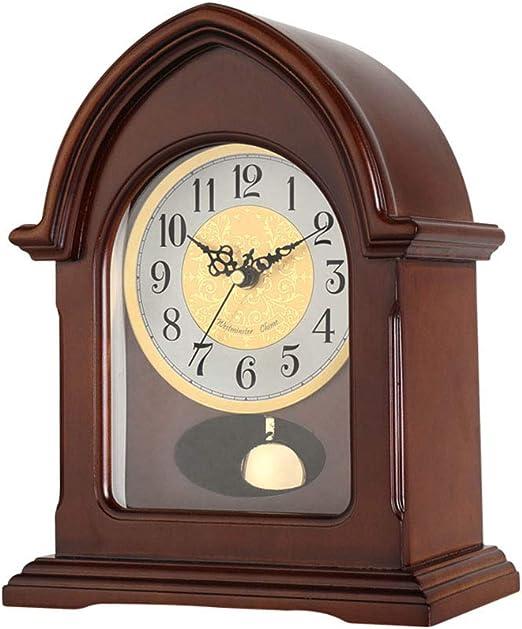 Relojes de repisa de madera, escritorio silencioso Reloj de mesa ...