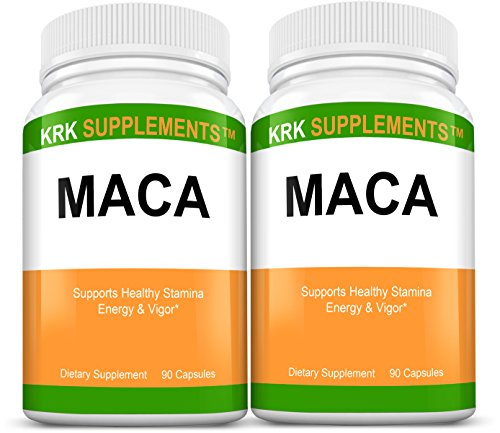 2 bouteilles racine de maca (Lepidium meyenii) 500mg 180 Capsules total KRK suppléments