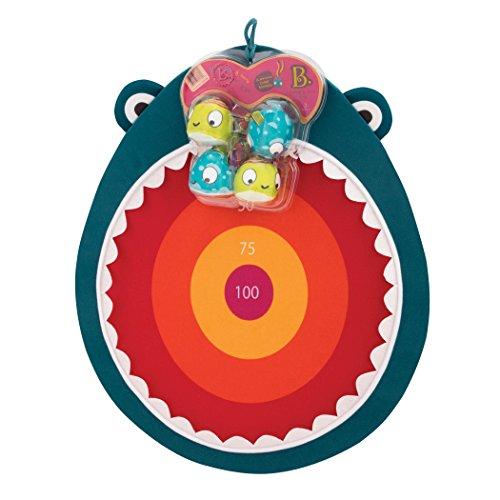 B. Toys – Hungry Toss Shark Toys - Kids Dart Board – 1 Fabric Board & & 4 Soft Darts for Kids 3+ (5-Pcs)