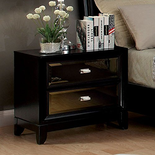 247SHOPATHOME Idf-7295N, nightstand, Black by 247SHOPATHOME