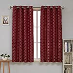 Deconovo Jacquard Room Darkening Curtains Living Room Textured Grommet Curtains